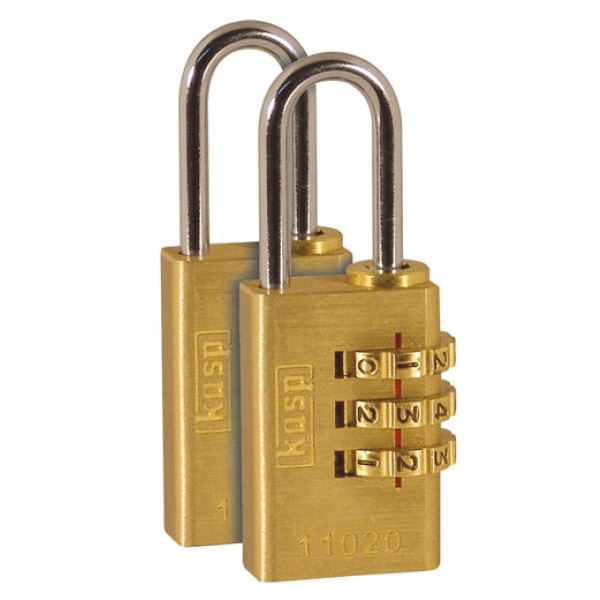 C.K Combination Padlock 20mm - Brass - Twin Pack