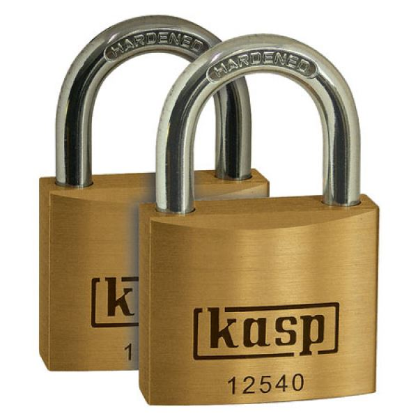 C.K Brass Padlock 40mm - Twin Pack - Keyed Alike