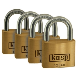 C.K Brass Padlock 40mm - Quad Pack - Keyed Alike