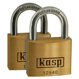 C.K Brass Padlock 50mm - Twin Pack - Keyed Alike