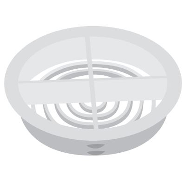 Circular Soffit Vent 70mm - Round Push-In - White
