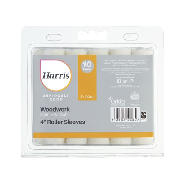 Harris Mini Varnish Sleeves 100mm - (Pack of 10) - (Seriously Good) - (102022251)