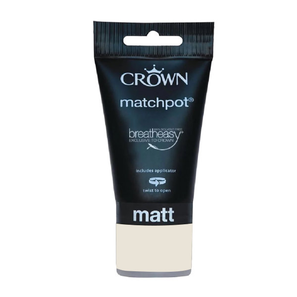 Crown Matt Emulsion 40ml - Matchpot - Whites - Beige White