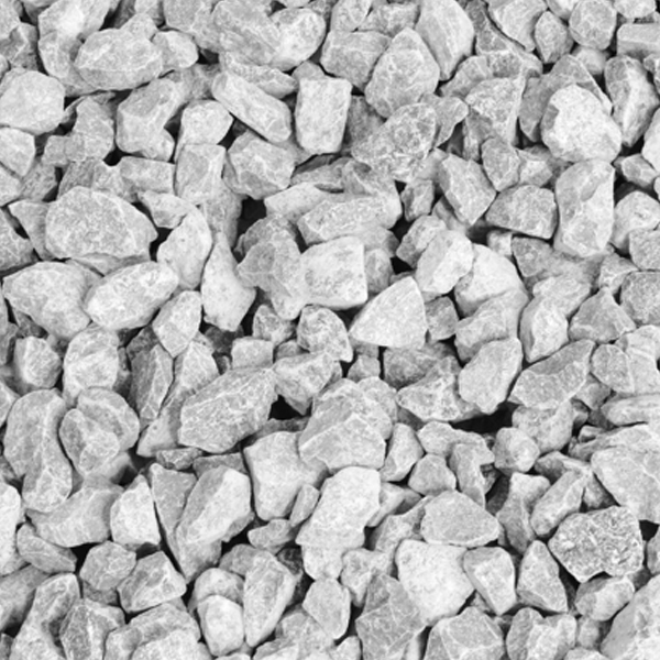 Decorative Gravel - White Limestone Chippings 25Kg