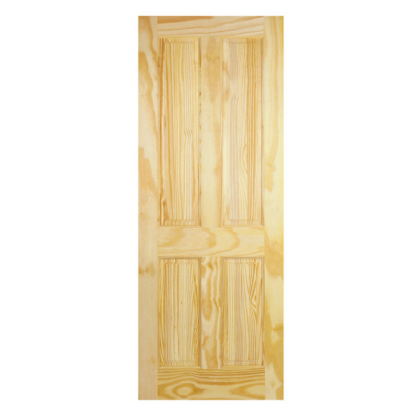 Clear Pine 4-Panel Door - All Sizes
