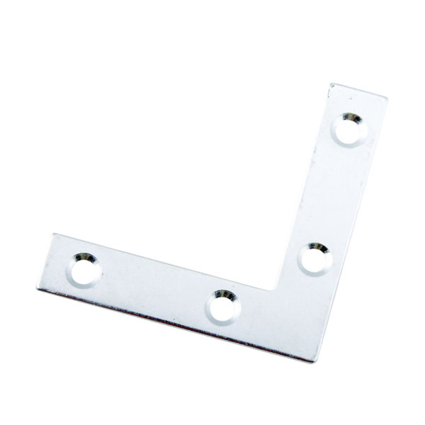 Angle Plates 75mm - Zinc Plated - (Pack of 4) - (042804N)