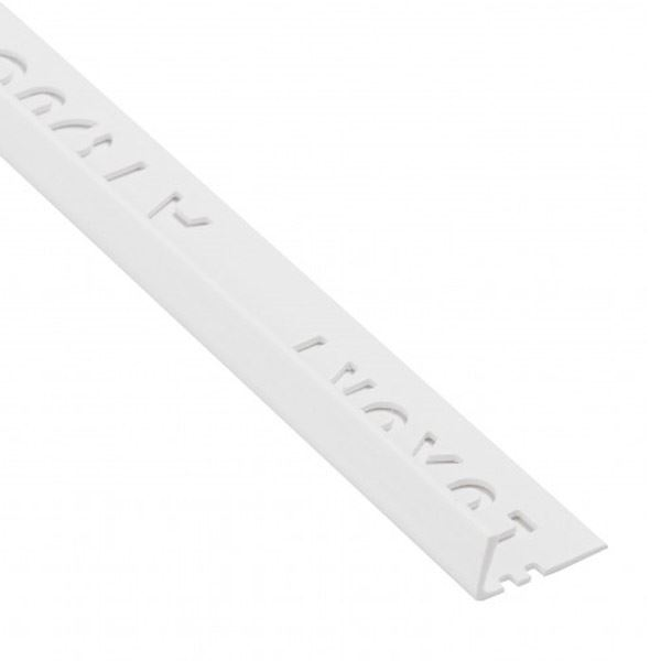 Tile Edge Trim - Square - 2.4Mt x 8mm - (White)