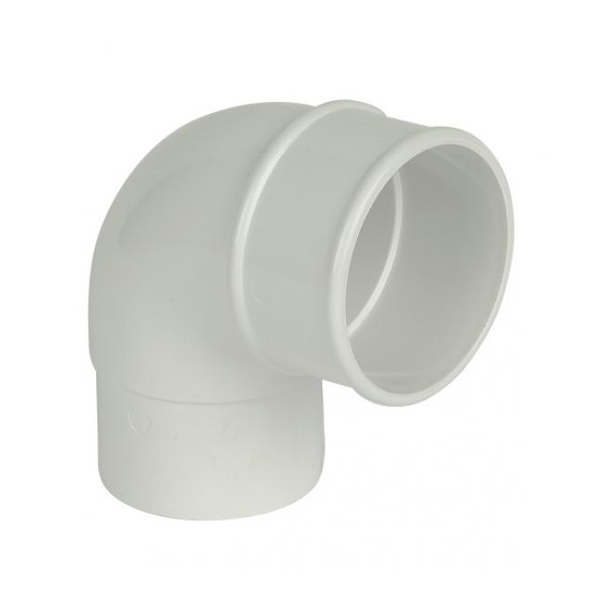Rainwater Round Pipe Bend 92D - White