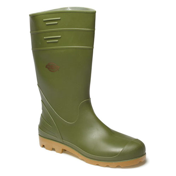 Dickies Pennine Wellington Boot - Green - Size 10