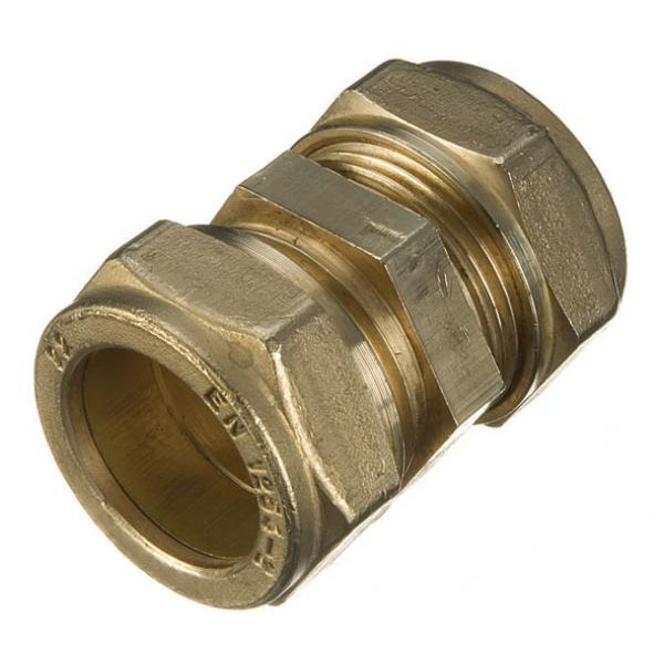 Brass Compression - Straight Coupler 22mm (2) - (9CC222)