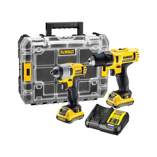 DeWalt Impact Drill & Driver Twin Pack - 10.8 Volt - (2 Batteries & Charger)