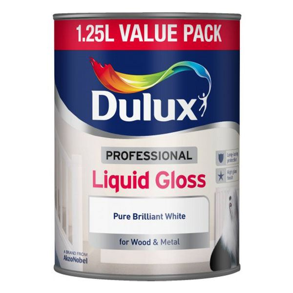 Dulux Liquid Gloss 1.25Lt - Pure Brilliant White
