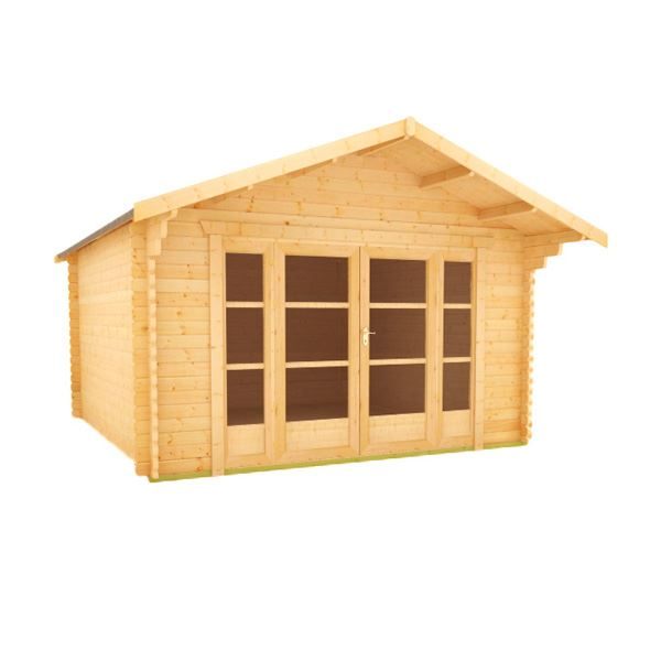 The Siberian - 44mm Log Cabin - 12Ft Length x 14Ft Width