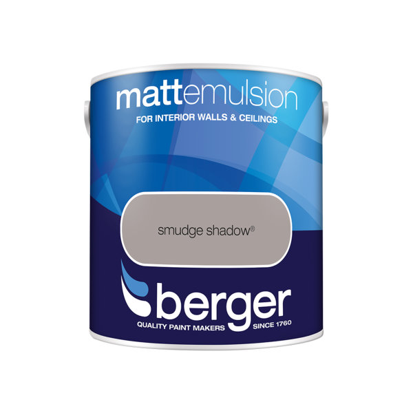 Berger Matt Emulsion 2.5Lt - Smudge Shadow