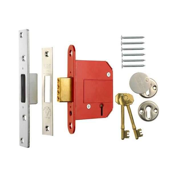 ERA Deadlock 65mm - 5 Lever - Brass - (201-32)