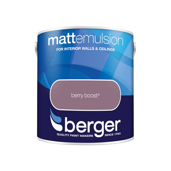 Berger Matt Emulsion 2.5Lt - Berry Boost