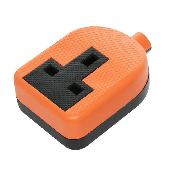 Jegs Resilient Trailing Socket - Orange - 1 Gang 13 Amp