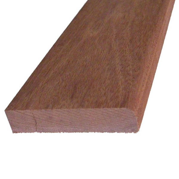 Red Hardwood Pencil Round Skirting - 19mm x 100mm - Per Metre