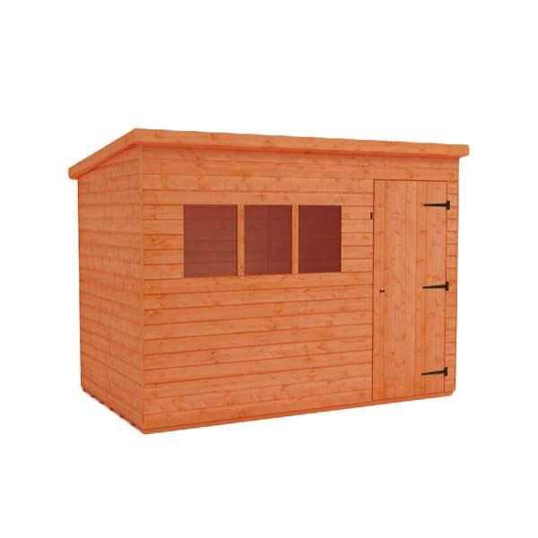 Tiger Shiplap Pent Shed - Extra High - 12Ft Length x 8Ft Width