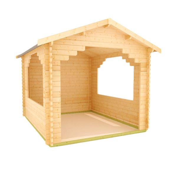 The Sumatran Shelter - 44mm Log Cabin - 12Ft Length x 10Ft Width