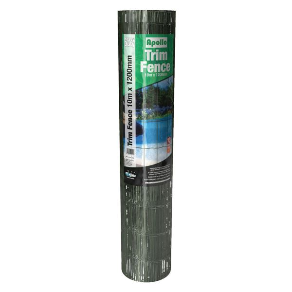 Apollo Trim Fence - Green PVC - 10Mt x 1200mm