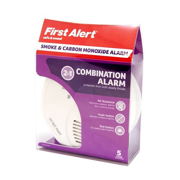 First Alert 2 in 1 Combination Alarm - Smoke / Carbon Monoxide
