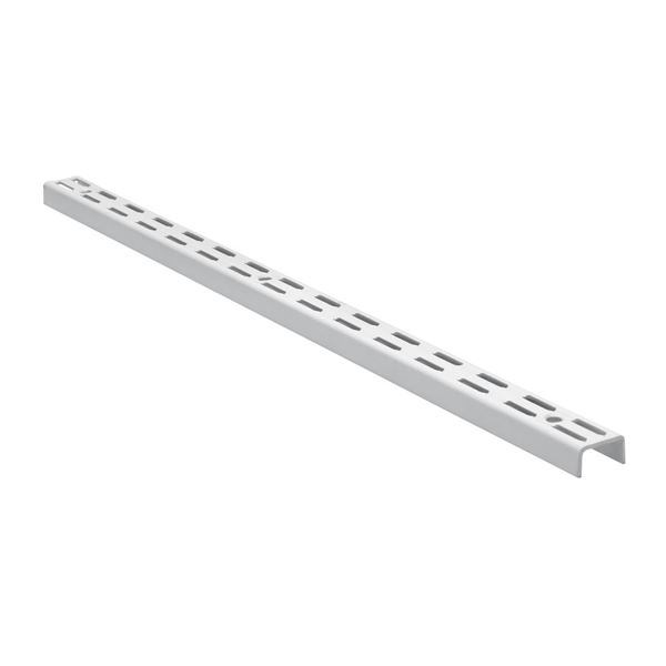 Twin Slot Shelving Upright - White - 1600mm