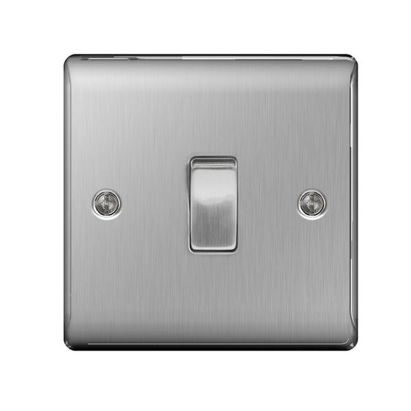 Nexus Stainless Steel Switch - 1 Gang 2 Way