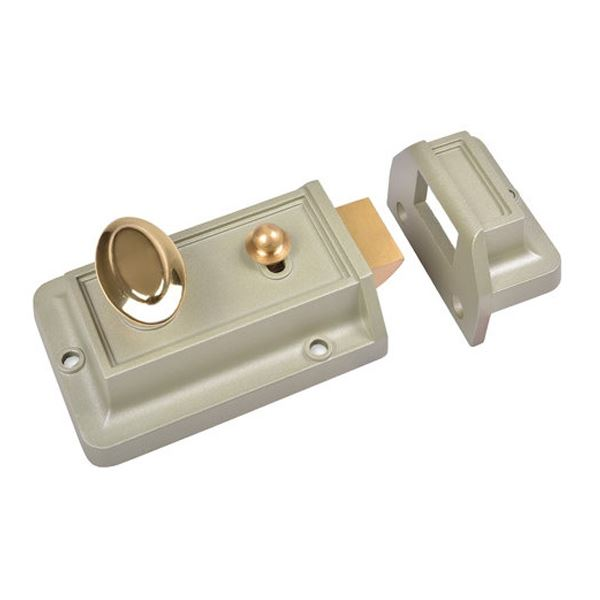 Sterling Nightlatch - Standard - Satin Chrome