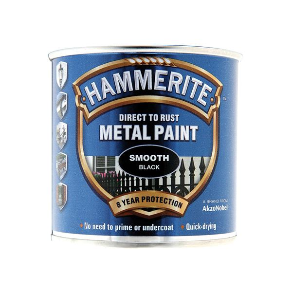 Hammerite 750ml - Smooth - Black