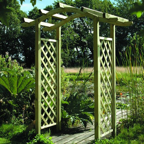 Omega Top Arch Garden Archway Woodlands Diy Store