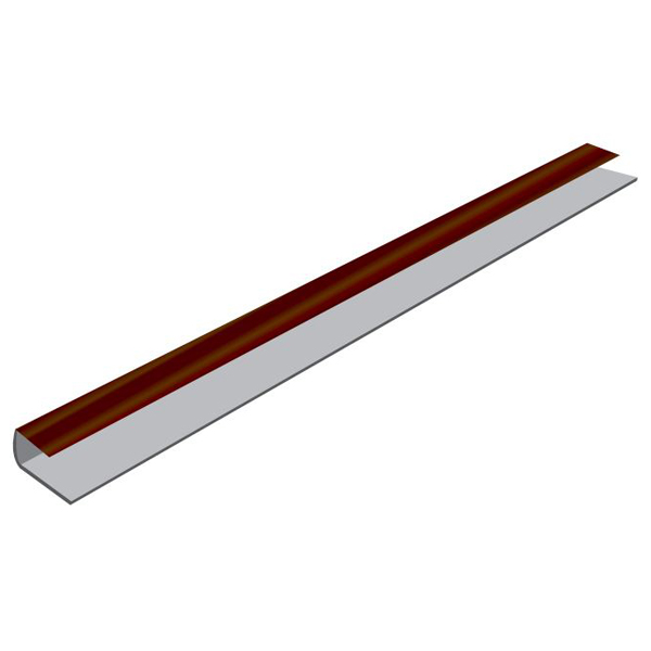 PVC Flat Board Starter Trim x 5Mt - J Section
