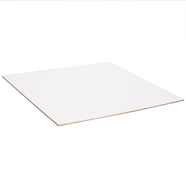 Hardboard Sheet - Cream - 2Ft x 2Ft