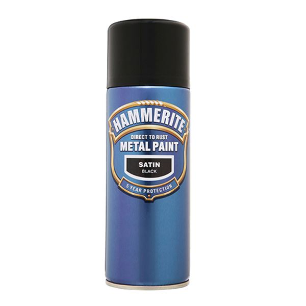 Hammerite BBQ Spray Paint 400ml - Matt - Black