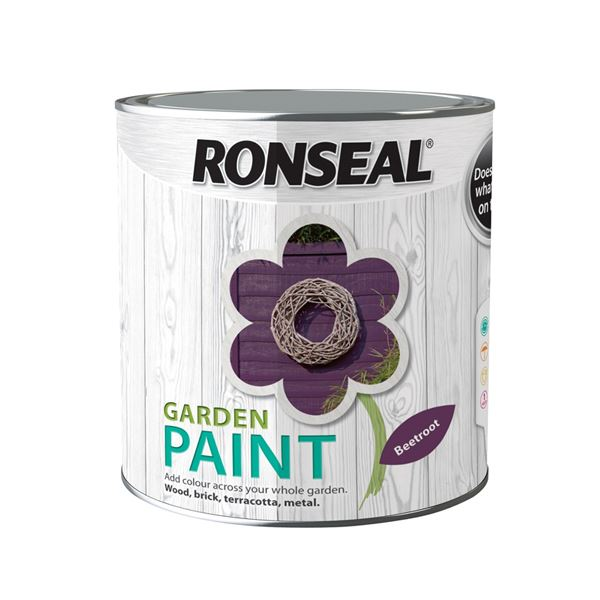 Ronseal Garden Paint 250ml - Beetroot