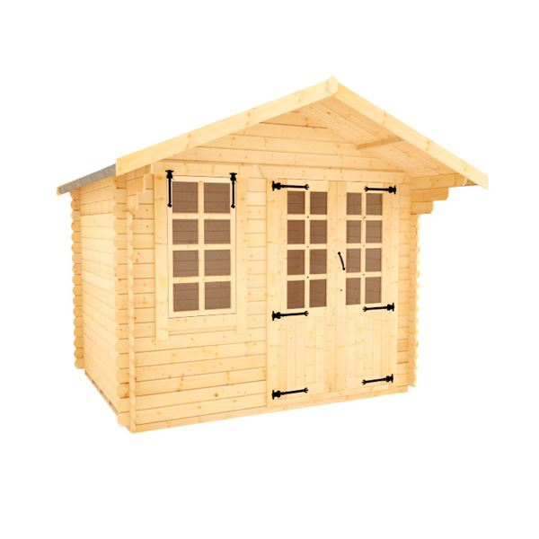 White Label Alexandria - 19mm Log Cabin - 8Ft Length x 10Ft Width