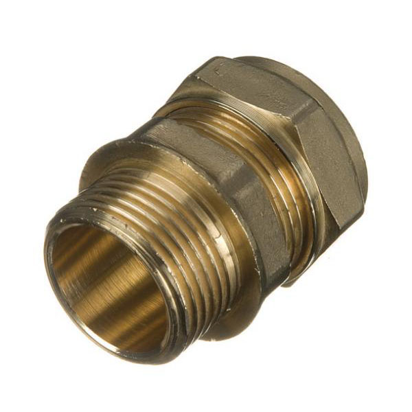 "Brass Compression - Male Iron Coupler - 15mm x 3/4"" - (9CCMI1534)"