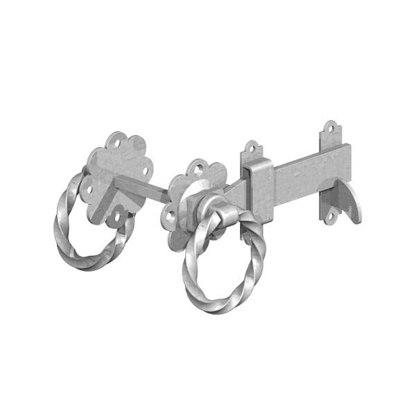 Gate Mate - Ring Latch 150mm - Twisted - Galvanised
