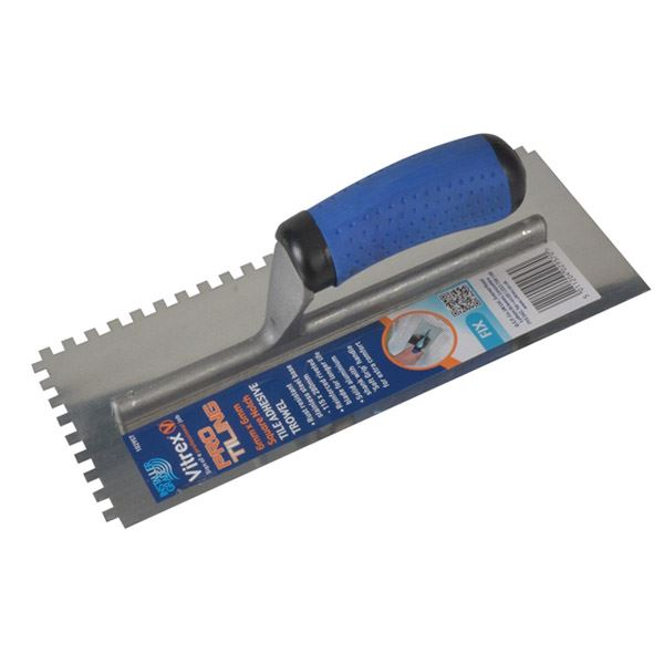 Vitrex Adhesive Trowel - Notched - Square 6mm - (Professional)