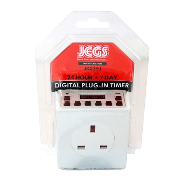 Jegs 24-Hour / 7 Day Plug-In Digital Timer