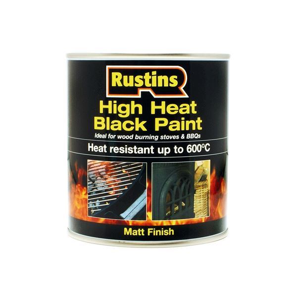 Rustins Heat Paint 250ml - Black