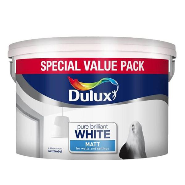 Dulux Silk Emulsion 6Lt - Pure Brilliant White