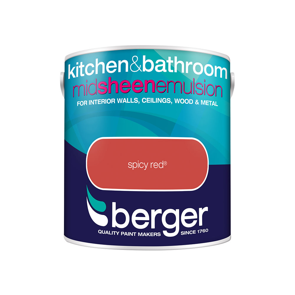 Berger Bath & Kitchen Paint 2.5Lt - Spicy Red