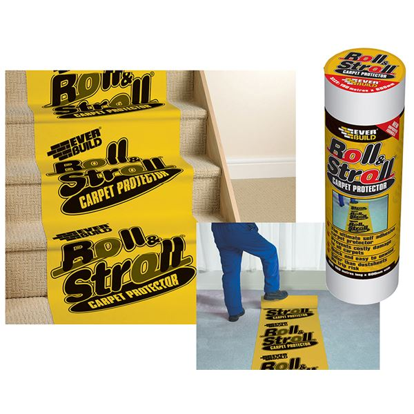 Everbuild Roll & Stroll - Carpet Protector - 25Mt x 600mm