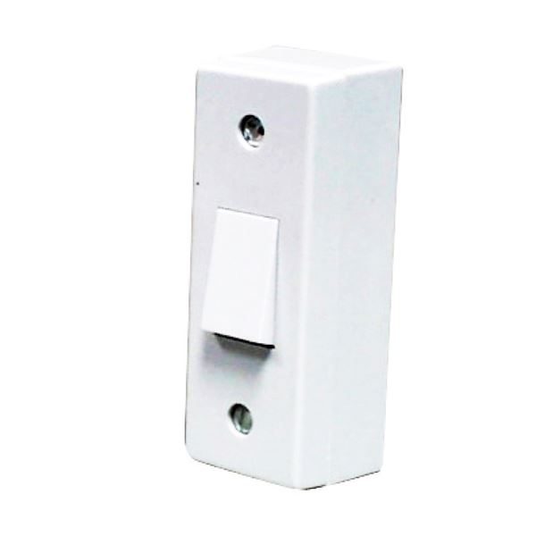 Jegs Architrave Switch & Back Box - 1 Gang - 2 Way