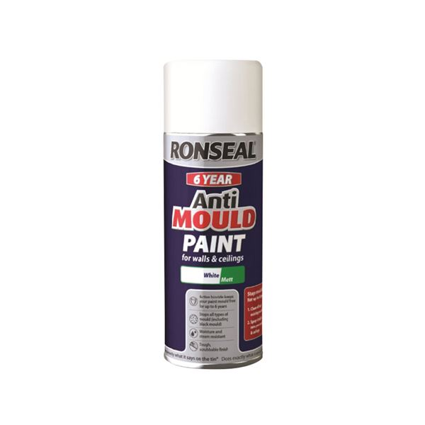 Ronseal Anti-Mould Paint 400ml - Matt - Spray