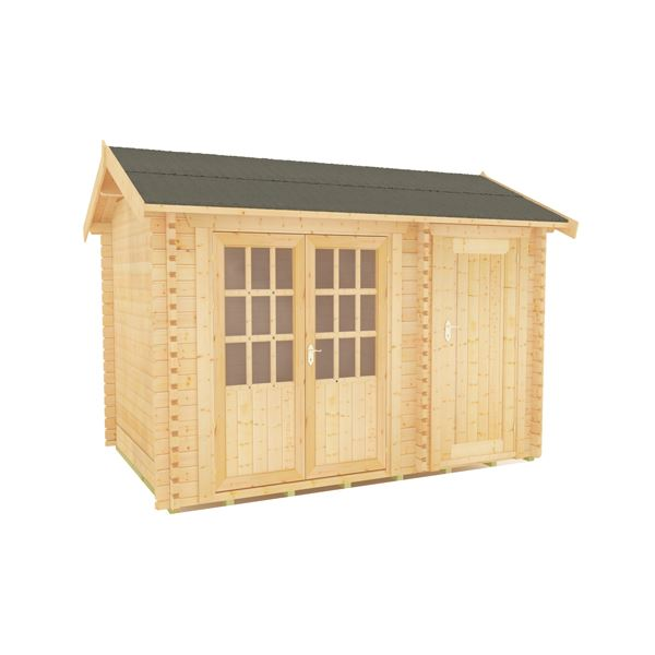 The Capetus - 44mm Log Cabin - 12Ft Length x 8Ft Width