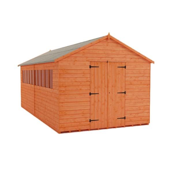 Tiger XL Heavyweight Workshop Shed - 12Ft Length x 8Ft Width