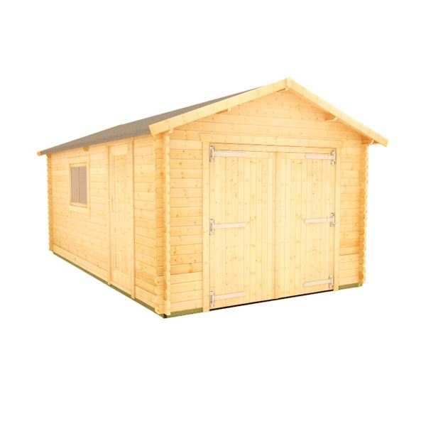 The Malayan Garage - 44mm Log Cabin - 16Ft Length x 14Ft Width