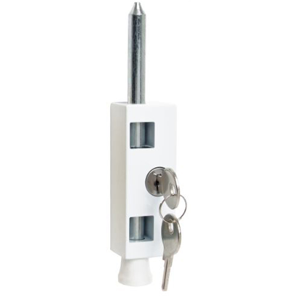Sterling Patio Door Bolt - White